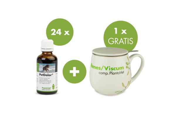 """PetDolor® (24 Flaschen) - jetzt Tee-Tasse """"Renes/Viscum"""" gratis"""